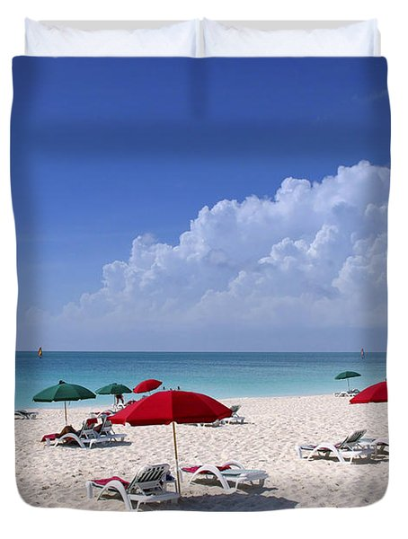 Caribbean Blue Duvet Cover by Stephen Anderson