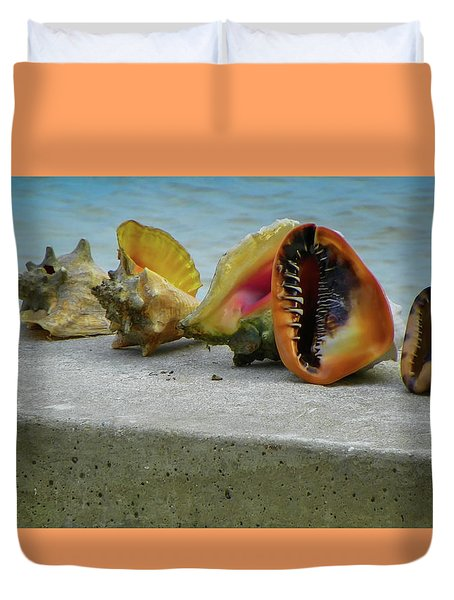 Duvet Cover featuring the photograph Caribbean Charisma by Karen Wiles