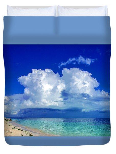 Caribbean Clouds Duvet Cover