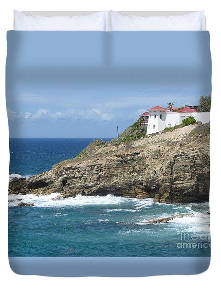 Caribbean Coastal Villa Duvet Cover
