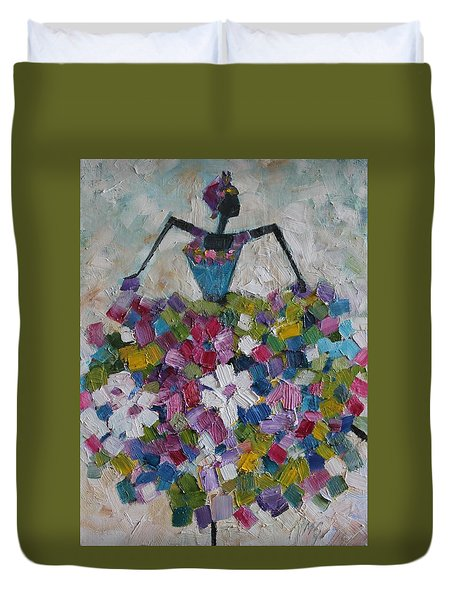 Caribbean Dancer Duvet Cover