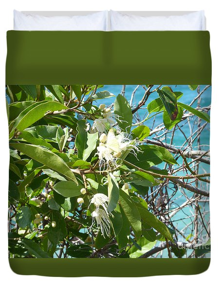 Caribbean Honeysuckle Duvet Cover