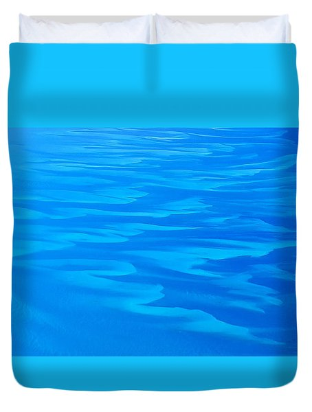 Caribbean Ocean Abstract Duvet Cover by Jetson Nguyen