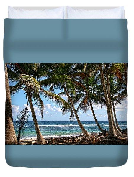 Caribbean Palms Duvet Cover