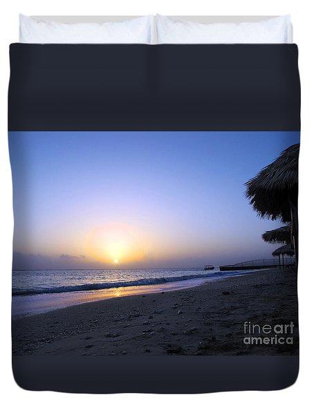 Caribbean Sunrise Duvet Cover by Cedric Hampton