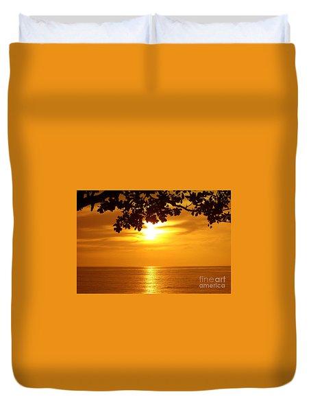 Duvet Cover featuring the photograph Caribbean Sunrise by Rod Jellison
