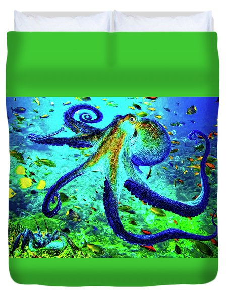 Caribbean Tropical Reef Duvet Cover