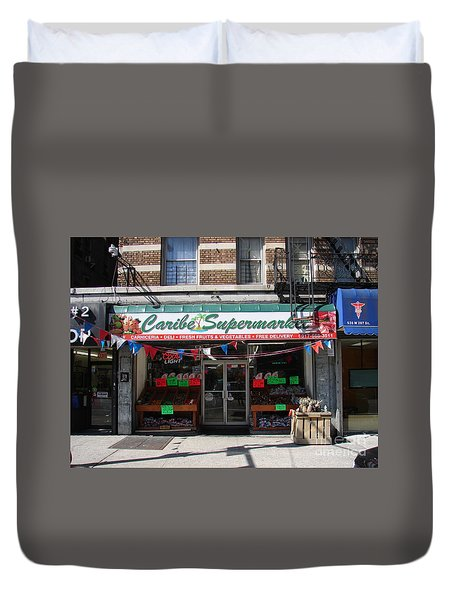 Caribe Supermarket Duvet Cover by Cole Thompson