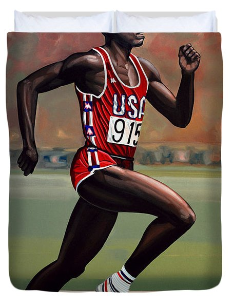 Carl Lewis Duvet Cover