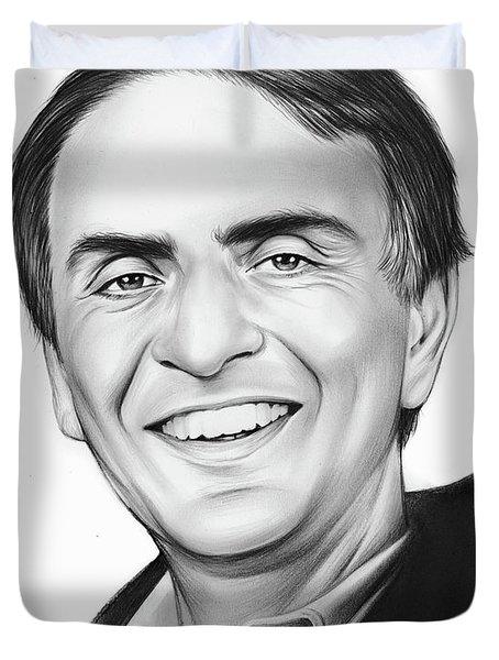 Carl Sagan Duvet Cover