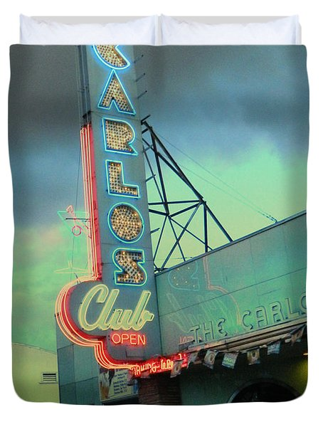 Carlos Club Duvet Cover by Kathleen Grace