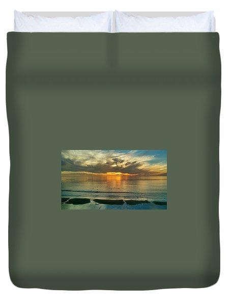 Carlsbad Beach  Duvet Cover