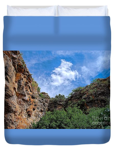 Duvet Cover featuring the photograph Carlsbad Caverns by Gina Savage