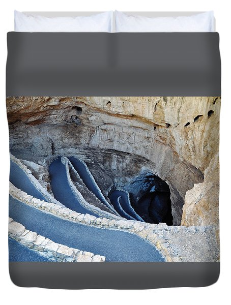 Carlsbad Caverns Natural Entrance Duvet Cover by Kyle Hanson