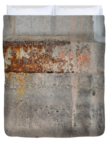 Carlton 16 Concrete Mortar And Rust Duvet Cover