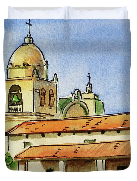 Carmel By The Sea - California Sketchbook Project  Duvet Cover