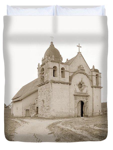 Carmel Mission South Side Circa 1915 Duvet Cover