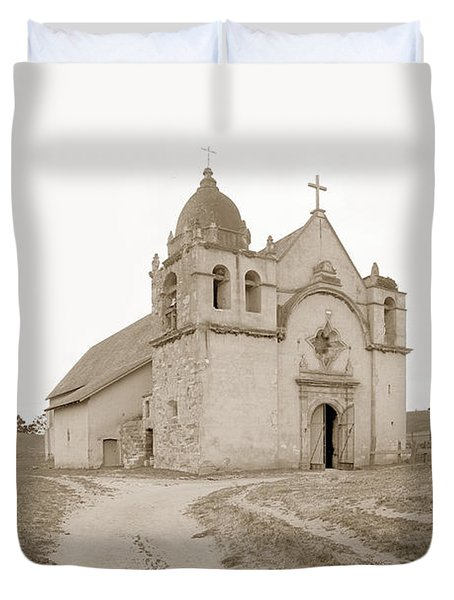 Carmel Mission South Side Circa 1915 Duvet Cover