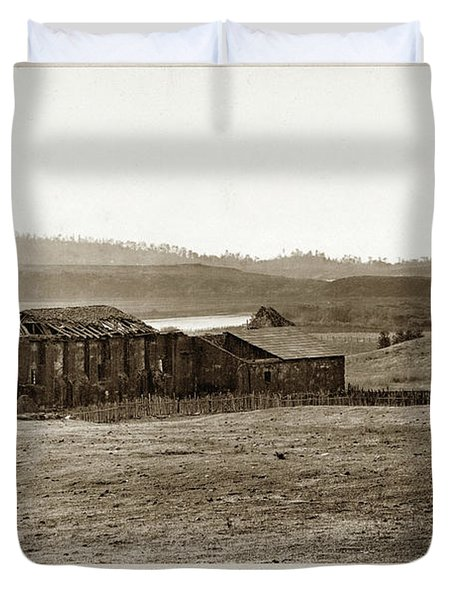 Carmel Mission, With Glimpse Of River And Bay Circa 1880 Duvet Cover