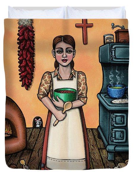Carmelitas Kitchen Art Duvet Cover