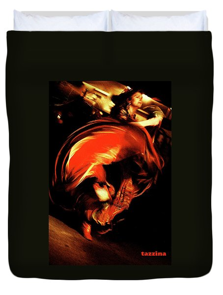 Duvet Cover featuring the photograph Carmen by Danica Radman