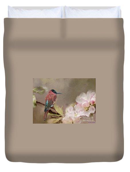 Carmine Bee-eater Duvet Cover by Eva Lechner