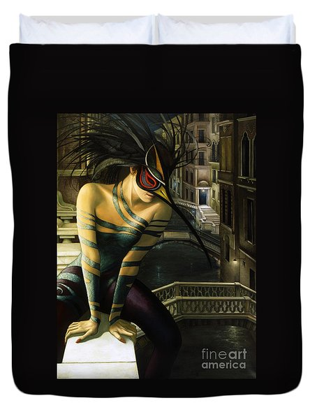 Carnavale Venezia Duvet Cover by Jane Whiting Chrzanoska