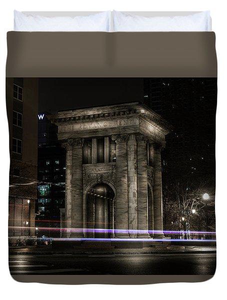 Carnegie Monument Duvet Cover