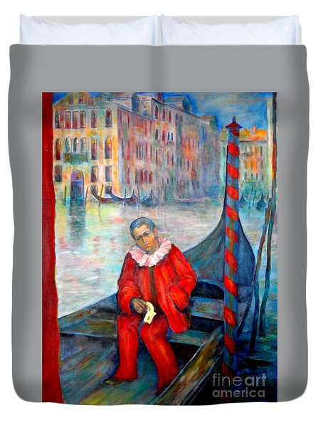 Carnaval In Venice Duvet Cover
