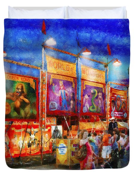 Carnival - World Of Wonders Duvet Cover by Mike Savad