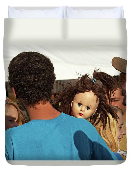 Duvet Cover featuring the photograph Carnival Adoption by Joe Jake Pratt