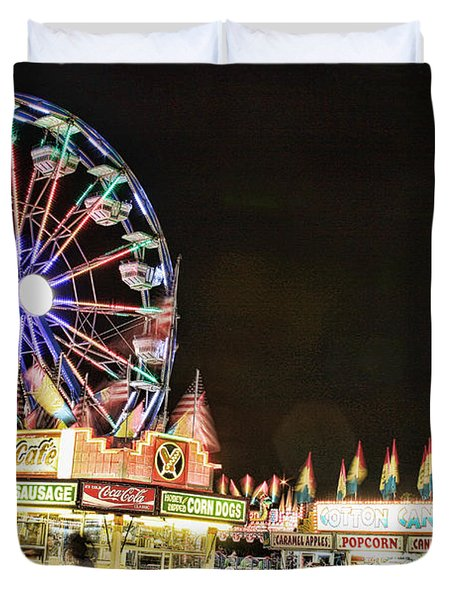 carnival Fun and Food Duvet Cover by James BO  Insogna