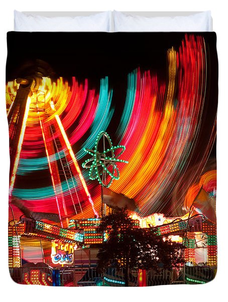 Carnival In Motion Duvet Cover by James BO  Insogna