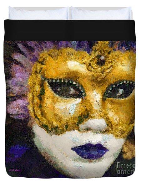 Carnival Of Venice Duvet Cover by Elizabeth Coats