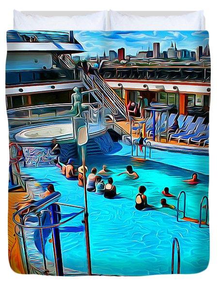 Carnival Pride Pool Duvet Cover