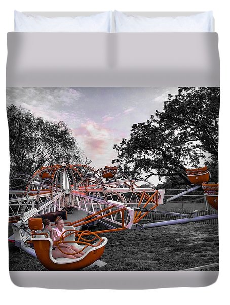 Carnival Ride Duvet Cover
