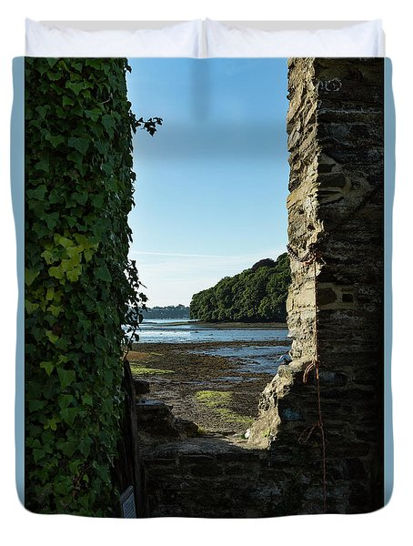 Duvet Cover featuring the photograph Photographs Of Cornwall Carnon Mine Window by Brian Roscorla