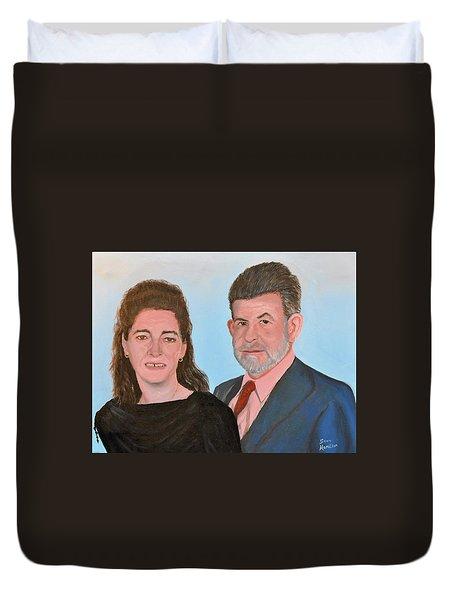 Carol And Max Duvet Cover