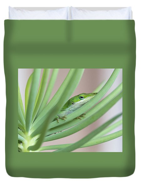 Carolina Anole Duvet Cover