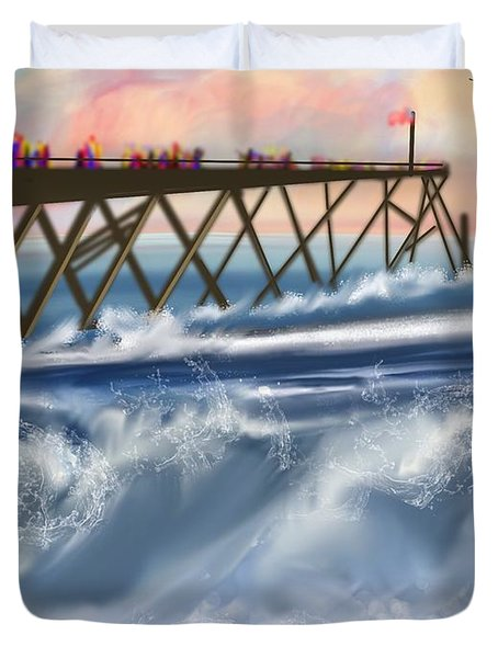 Carolina Beach Duvet Cover