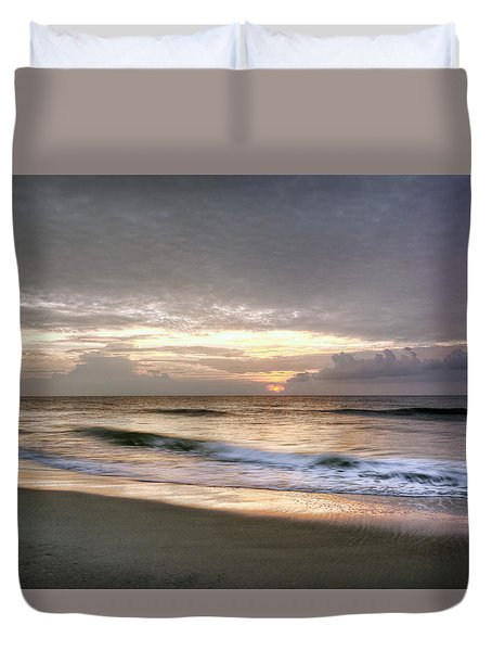 Carolina Beach Morning Duvet Cover