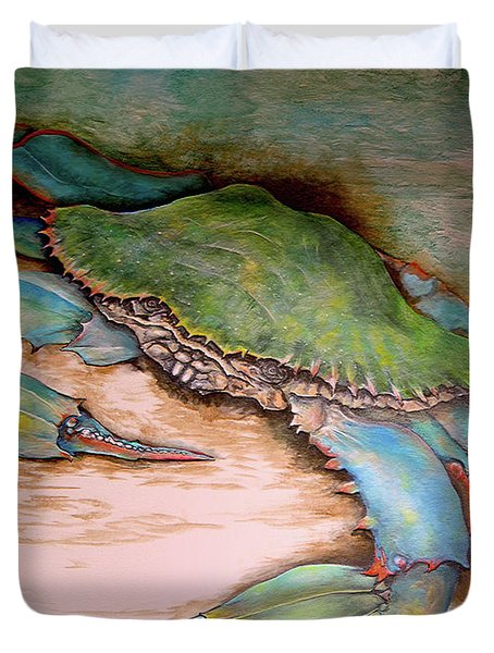 Carolina Blue Crab Duvet Cover