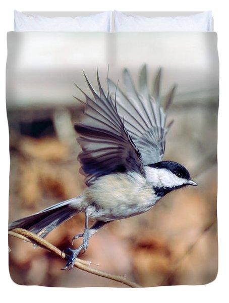 Carolina Chickadee - Come Fly With Me  Duvet Cover