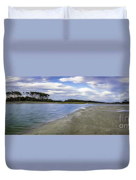 Carolina Inlet At Low Tide Duvet Cover