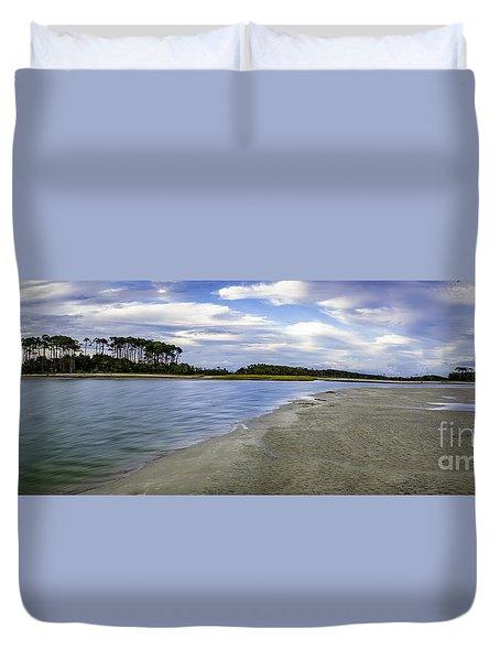 Carolina Inlet At Low Tide Duvet Cover