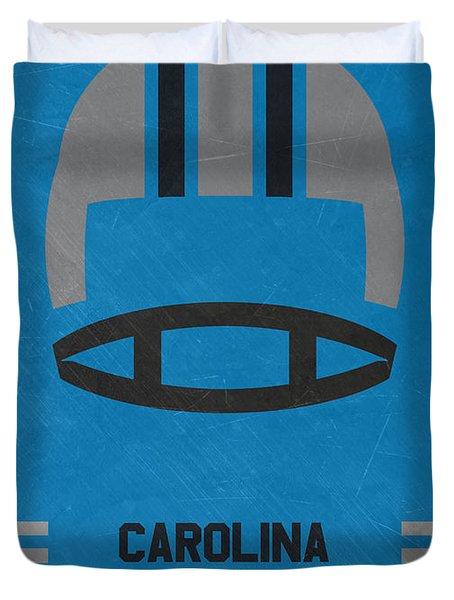 Carolina Panthers Vintage Art Duvet Cover