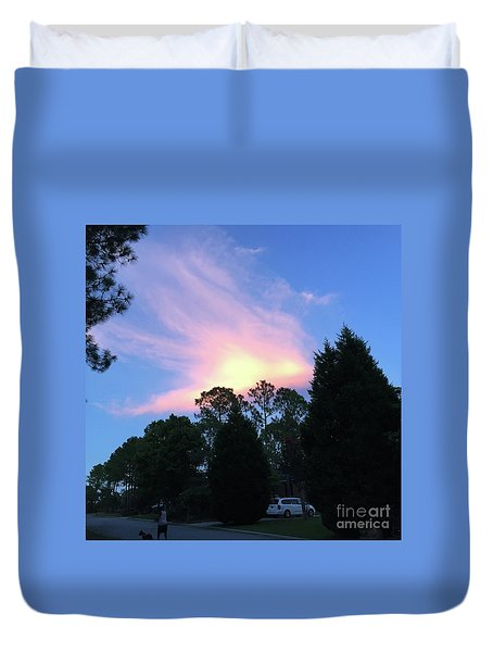 Carolina Summer Sky Duvet Cover