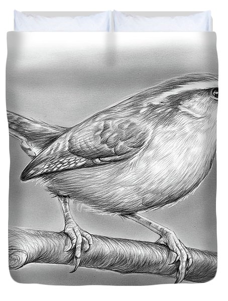 Carolina Wren Duvet Cover by Greg Joens