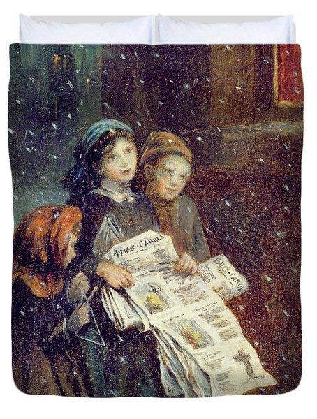 Carols For Sale  Duvet Cover by Augustus Edward Mulready