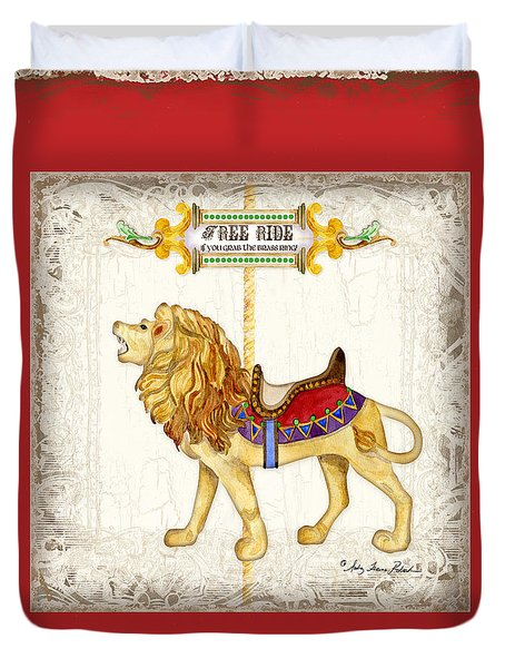 Carousel Dreams - Roaring Lion Duvet Cover